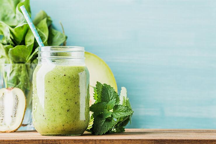 Der grüne Fruchtdrink